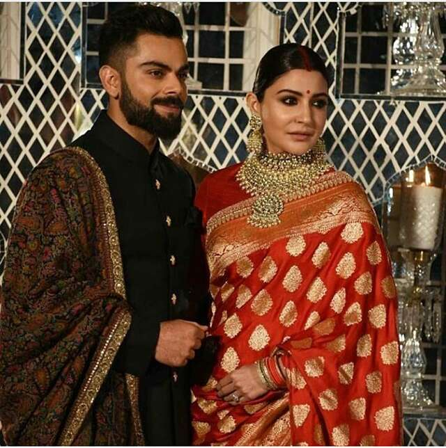 Virat-Anushka royal reception