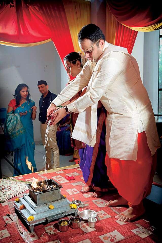 Ashay Sahasrabudhhe and Shivada Chauthaiwale's wedding