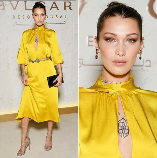 Bella Hadid in Fendi.