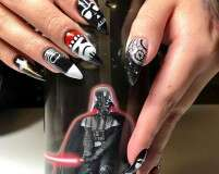 The force will be stronger with these comic nail art ideas