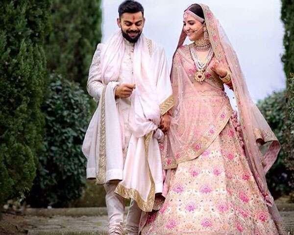 Anushka Sharma and Virat Kohli wedding outfits