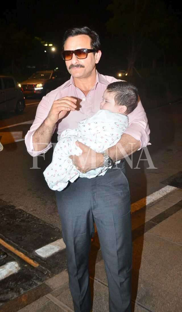 Taimur, Saif and Kareena