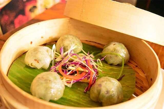Veg crystal dumplings