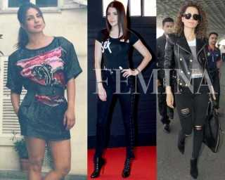Copy Kangana, Anushka and Priyanka's rock chick looks