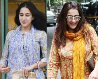 Mother-daughter duo Sara Ali Khan and Amrita Singh hang out