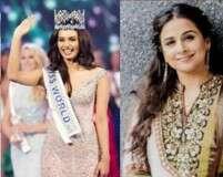 How Manushi Chhillar won Vidya Balan over