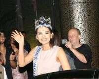 Miss World 2017 Manushi Chhillar gets a warm welcome