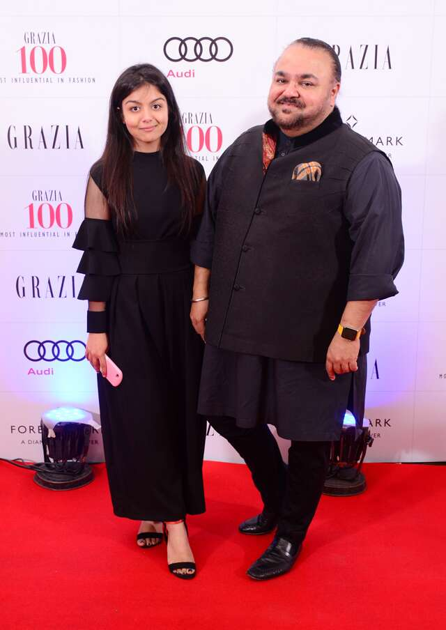 Ace Designer JJ Valaya also made an appearence at the event