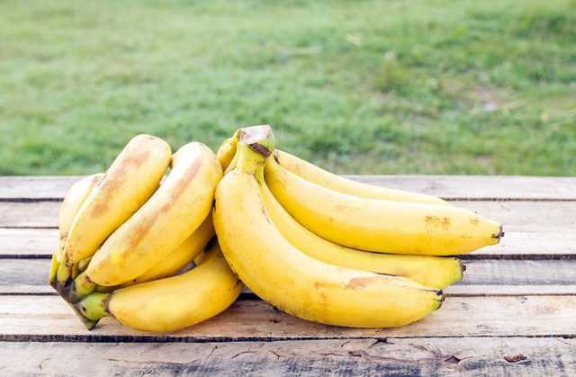 Banana rich in potassium