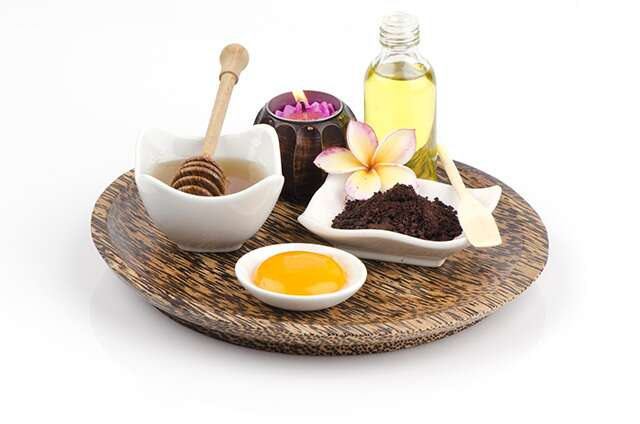 Castor oil with honey & egg