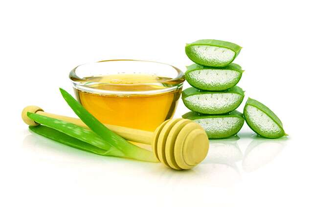 Castor oil and aloe vera