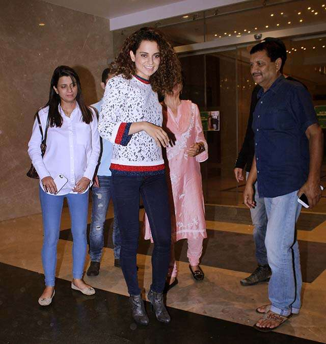 kangna with family
