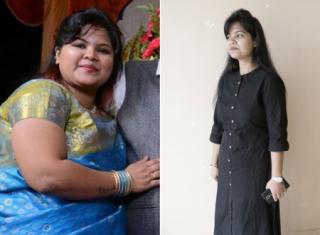 Yoga and lemon water helped his woman lose 32 kilos