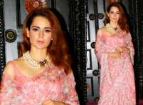 Kangana Ranaut looks all retro in this sari