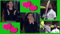 Virat Kohli blows a kiss to wifey Anushka Sharma