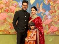 Abhishekh, Aishwarya and Aaradhya Bachchan at Isha-Anand wedding