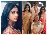 Navya Naveli Nanda wears grandmom Jaya Bachchan's sari