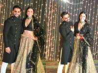 Ranveer Singh and Deepika Padukone at #NickYanka reception