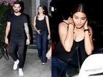 Anushka Sharma and Virat Kohli twin in black