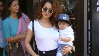 Kangana Ranaut poses with nephew Prithvi Raj