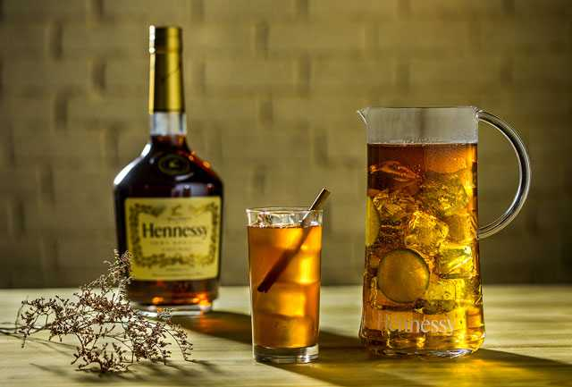 Cognac iced tea