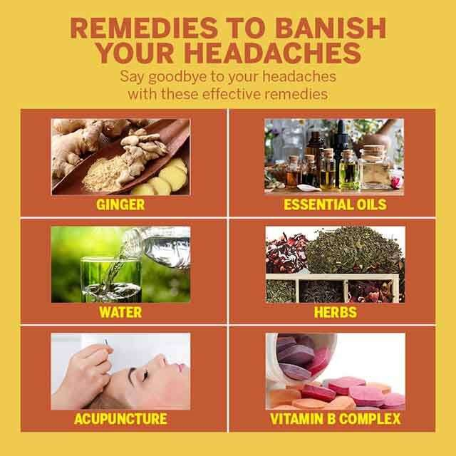 Home remedies to get rid of headaches
