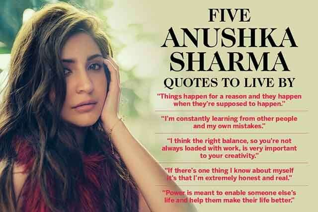 Five Anushka Sharma quotes