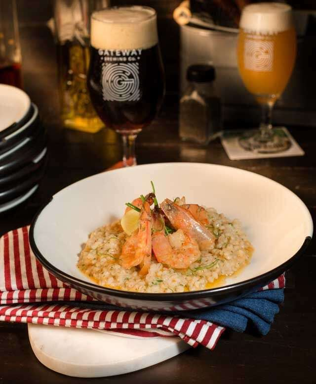 Prawn and barley risotto