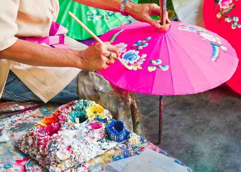 Bo Sang Umbrella Making