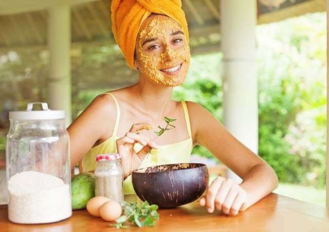Beauty Makeover by having mask with natural ingredients