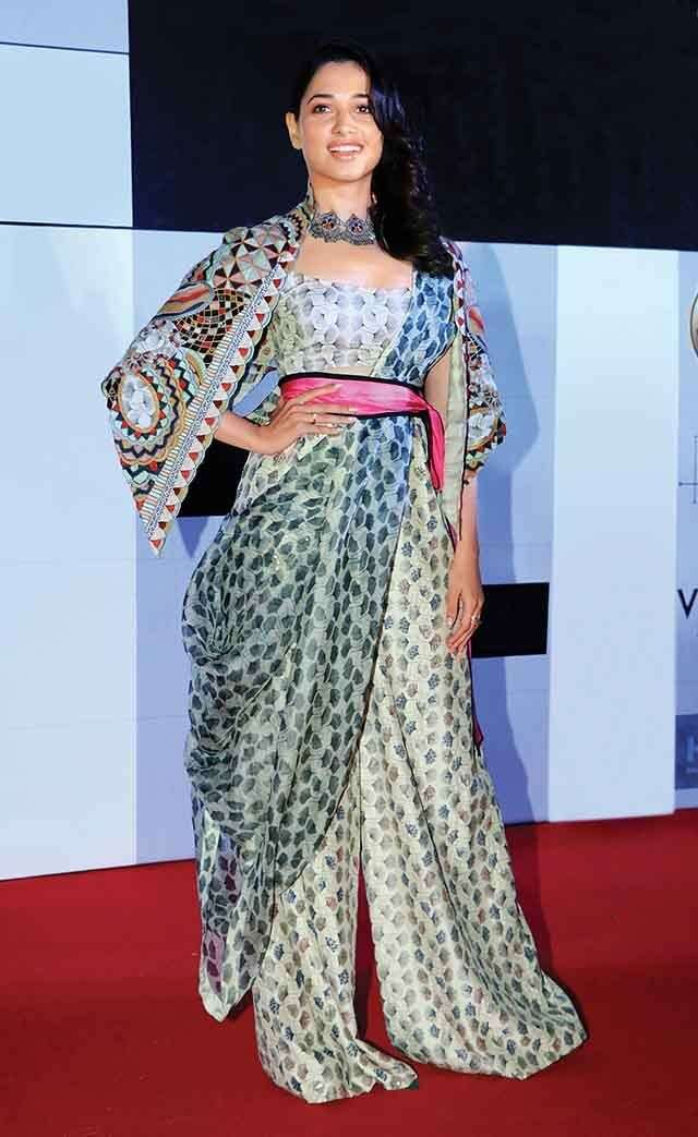 Tamannaah bhatia wearing Cape sleeves