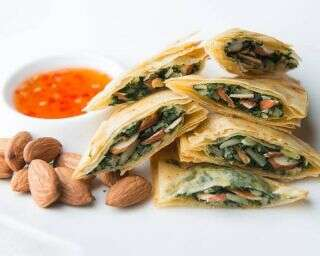 Recipe: Baked spinach and almond parcels