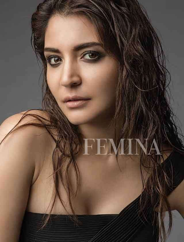 Anushka Sharma in black dress