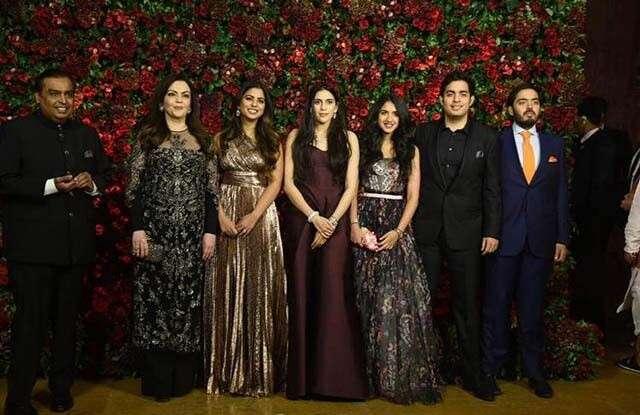 The Ambani family