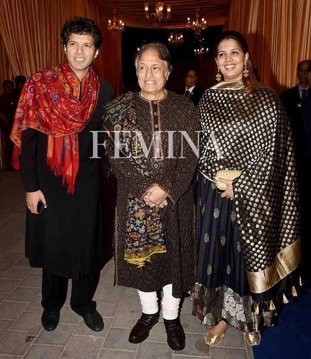 Ayaan Ali Khan, Amjad Ali Khan and Neema Sharma