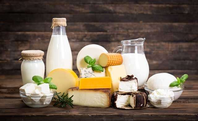Foods rich in Vitamin B12 Dairy products