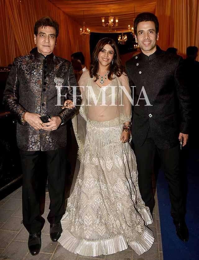 Jeetendra, Ekta and Tusshar Kapoor
