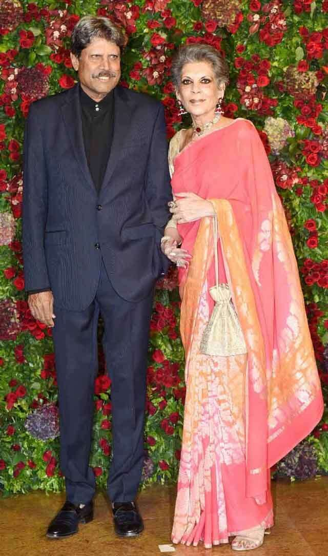 Kapil Dev and wife Romi Bhatia