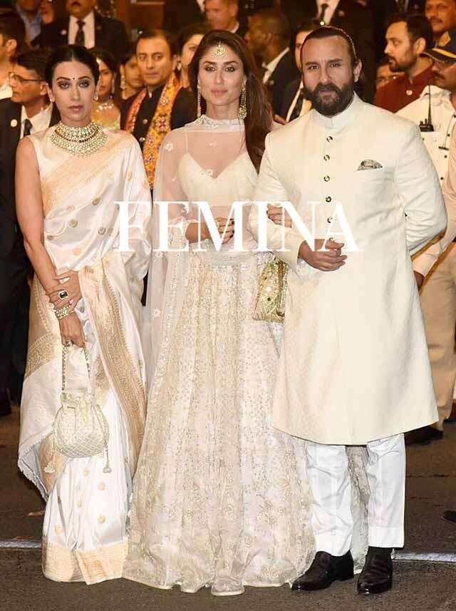 Karisma Kapoor, Kareena Kapoor Khan and Saif Ali Khan