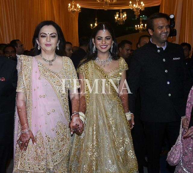 Nita Ambani with Isha and Anand