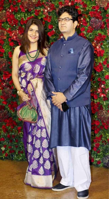 Prasoon Joshi with wife Aparna Joshi