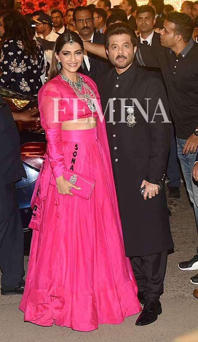 Sonam Kapoor Ahuja with Anil Kapoor