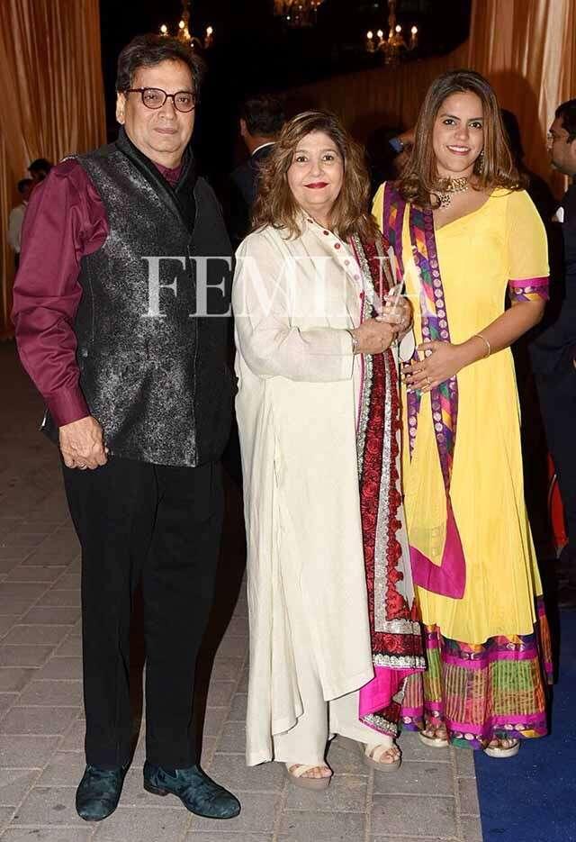 Subhash Ghai with family