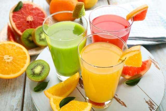 Health habit glass of juice contains sucrose
