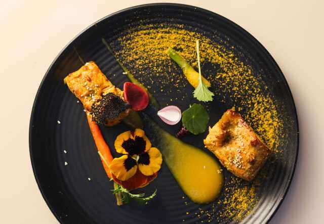 Recipe: kasundi salmon tikka with pumpkin pureé