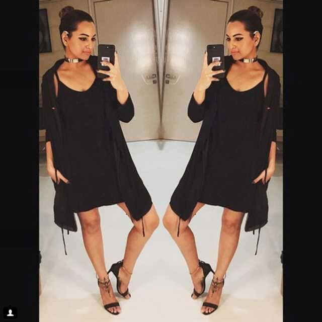black dress Sonakshi Sinha