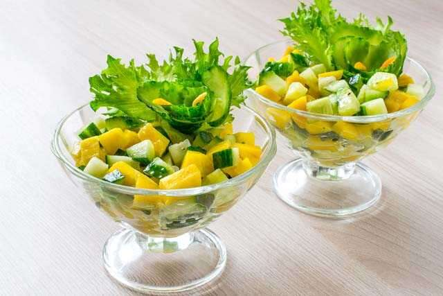 Mango and cucumber