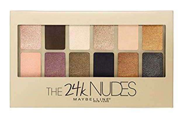 Maybelline New York The 24K Nudes Eyeshadow Palette - Gold