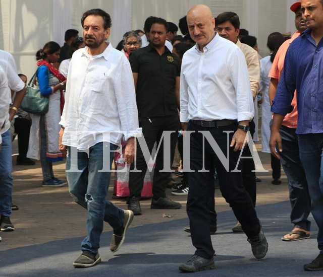 Shekhar Kapur and Anupam Kher