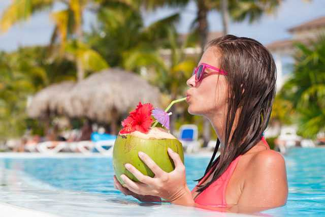 large glass of coconut water will alkalise your blood